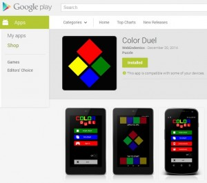 Color Duel: A pet project game built with Construct 2